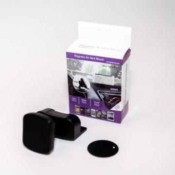 Держатель для смартфона на тарпеду магнитный, черный