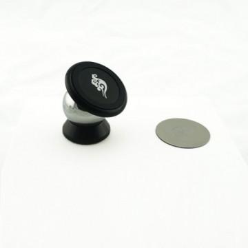 Держатель для смартфона на тарпеду магнитный, серебро