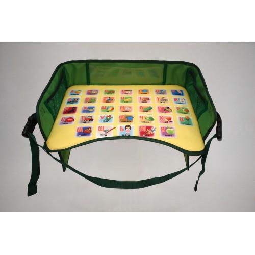 Детский столик для автокресла, зеленый
